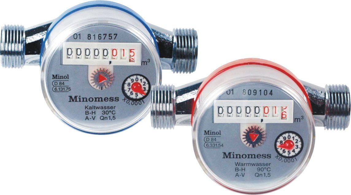 Счётчики воды Minol Minomess