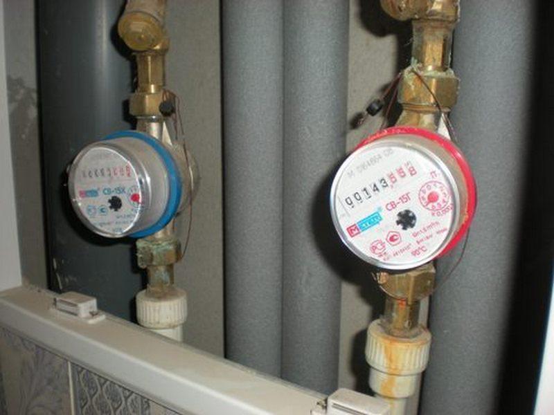 Счетчики воды подготовленные к эксплуатации