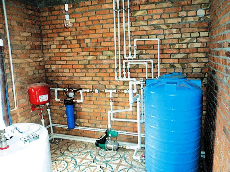 Пример установки счетчиков воды в частном доме