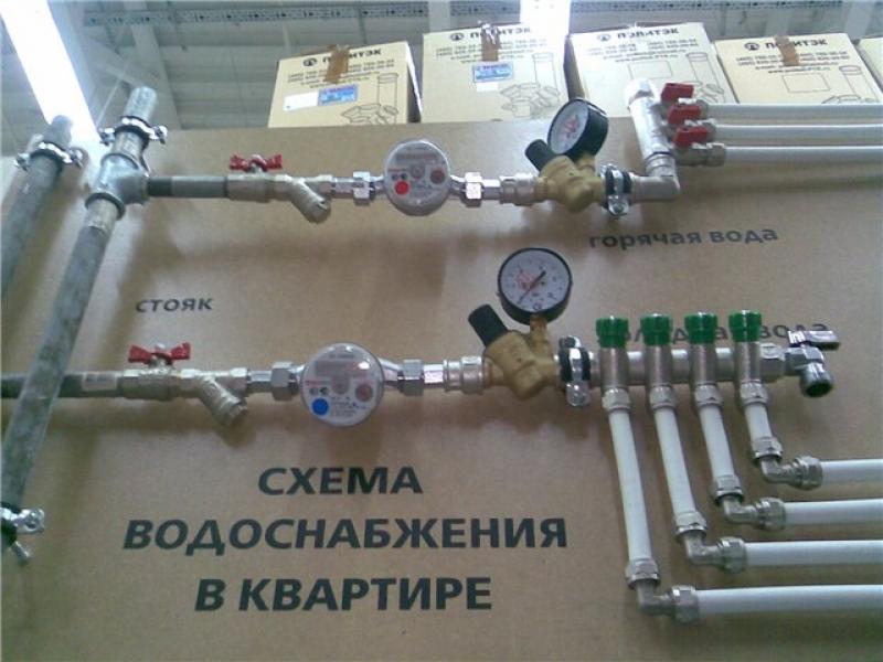 Установка счетчиков воды в г. Железнодорожном