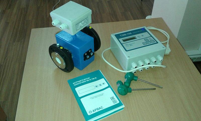 Классический ТЭМ 106 комплектуется электромагнитными расходомерами и термопреобразователями
